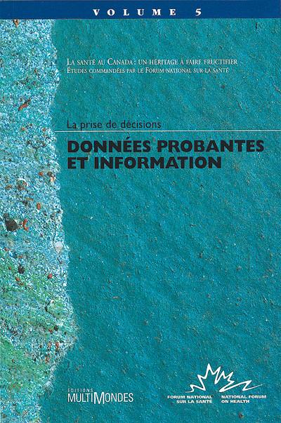 Couverture de Données probantes et information