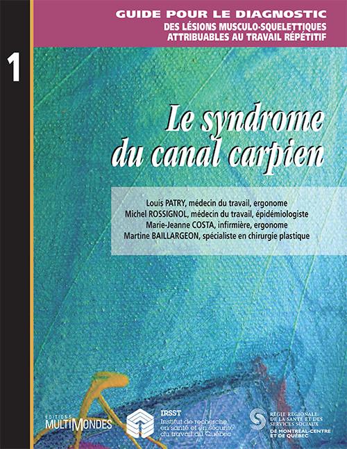 Couverture de Le syndrome du canal carpien